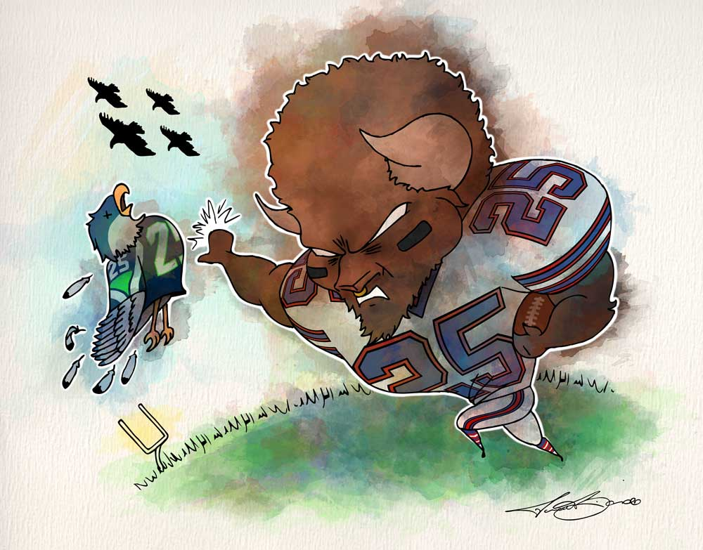 2016: Week 9 - Buffalo Bills Art | LeSean McCoy | Michael Biondo | Biondo Art
