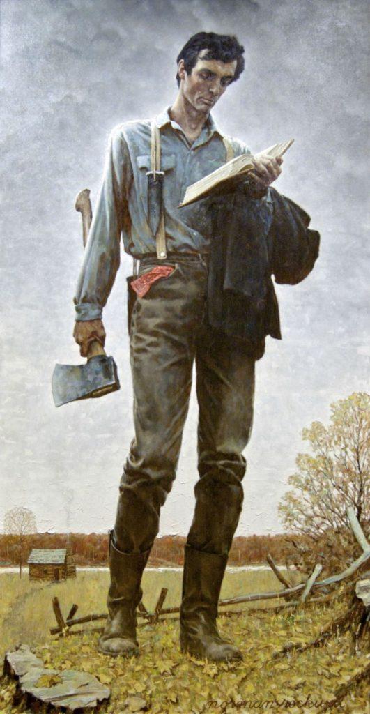Norman Rockwell - Lincoln The Railsplitter - Biondo Art Blog