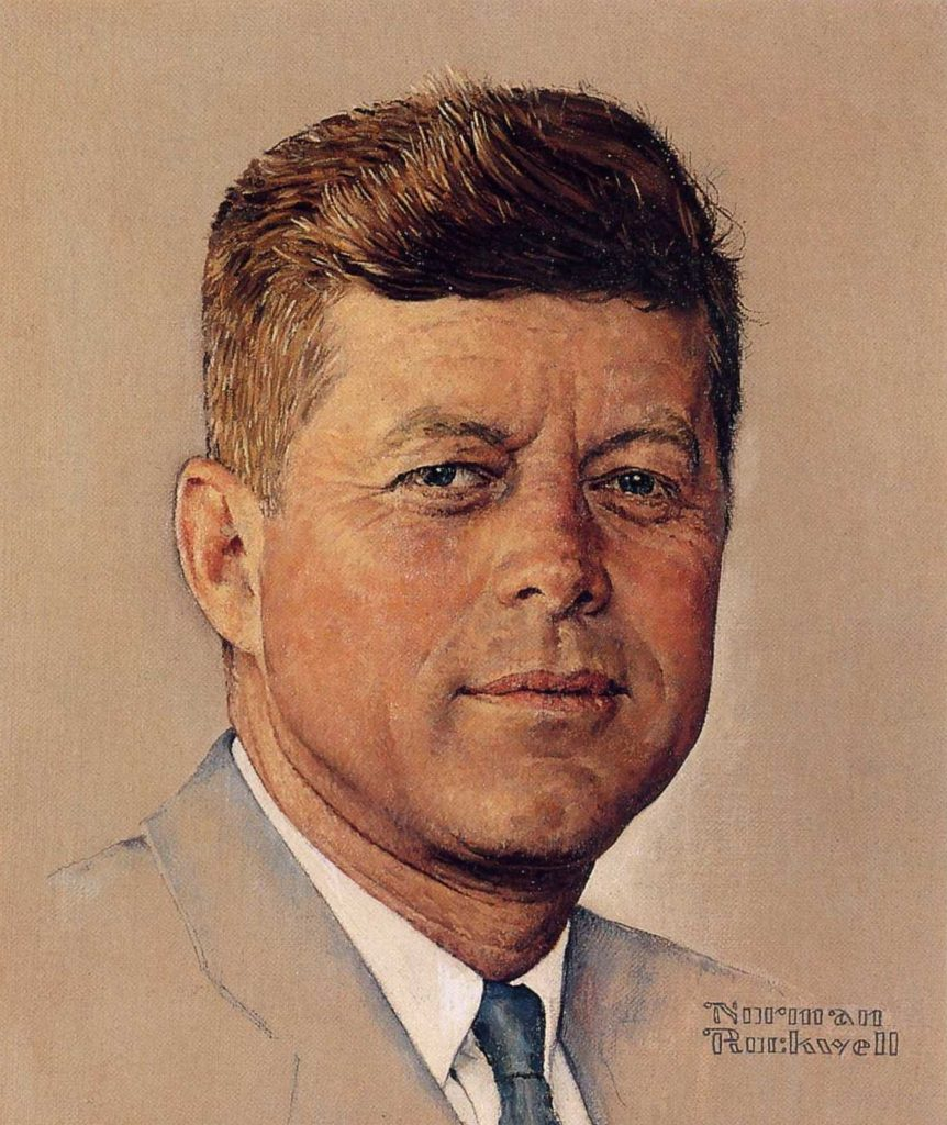 Norman Rockwell | Portrait of John F Kennedy | Oil Painting on Canvas | 1960