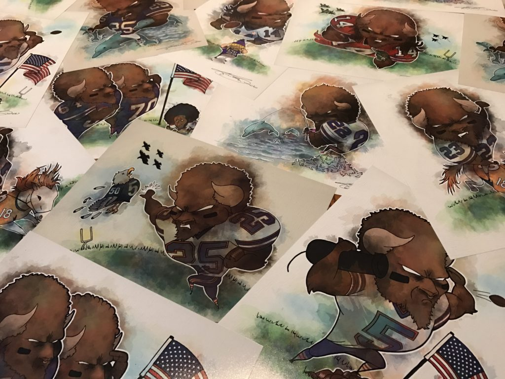 Buffalo Art | Buffalo Bills Art | Fred Hand Made Gifts + Wares