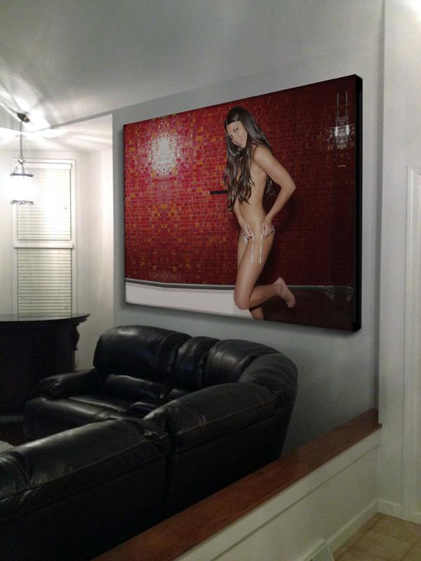 Olivia-Munn-Biondo-Art-Painting-Mockup