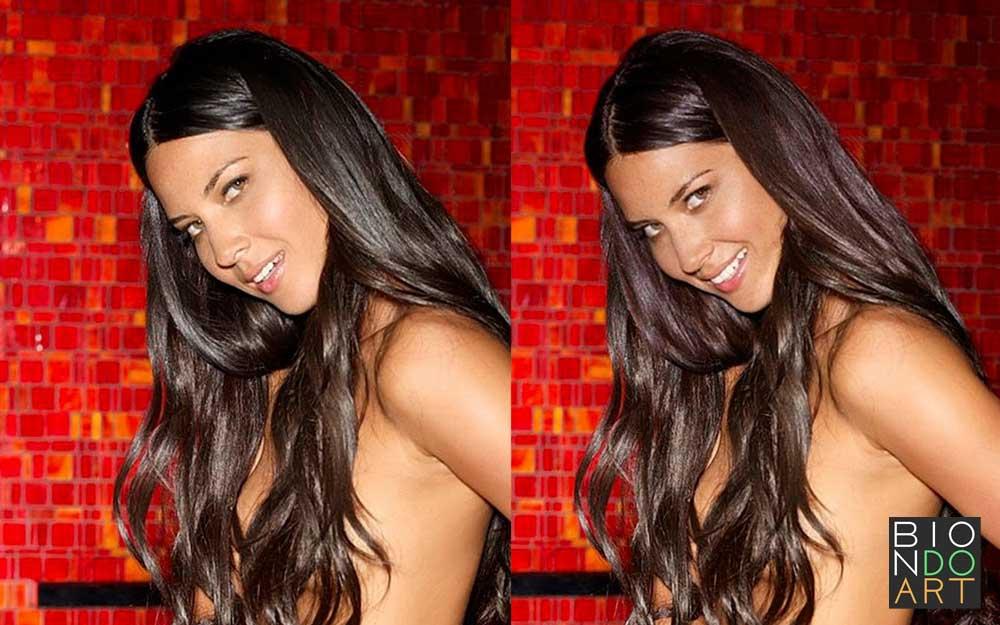 Olivia-Munn-Biondo-Art-smile
