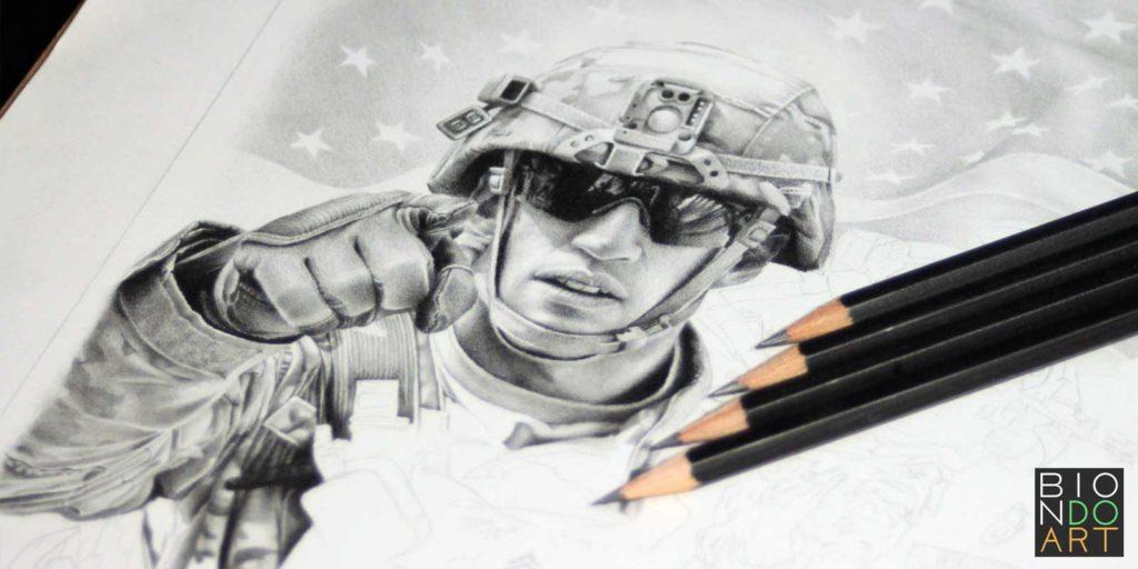 Billy Wilson Portrait Drawing - Biondo Art