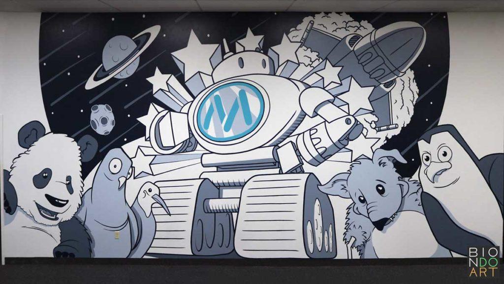 Mainstreethost Mural 2018 Biondo Art