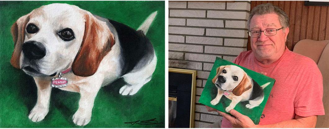 Commission Paintings Peanut - Biondo Art