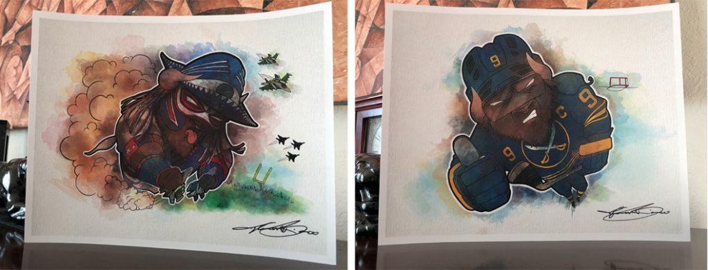 Pancho Billa and Jack Eichel Prints - Biondo Art