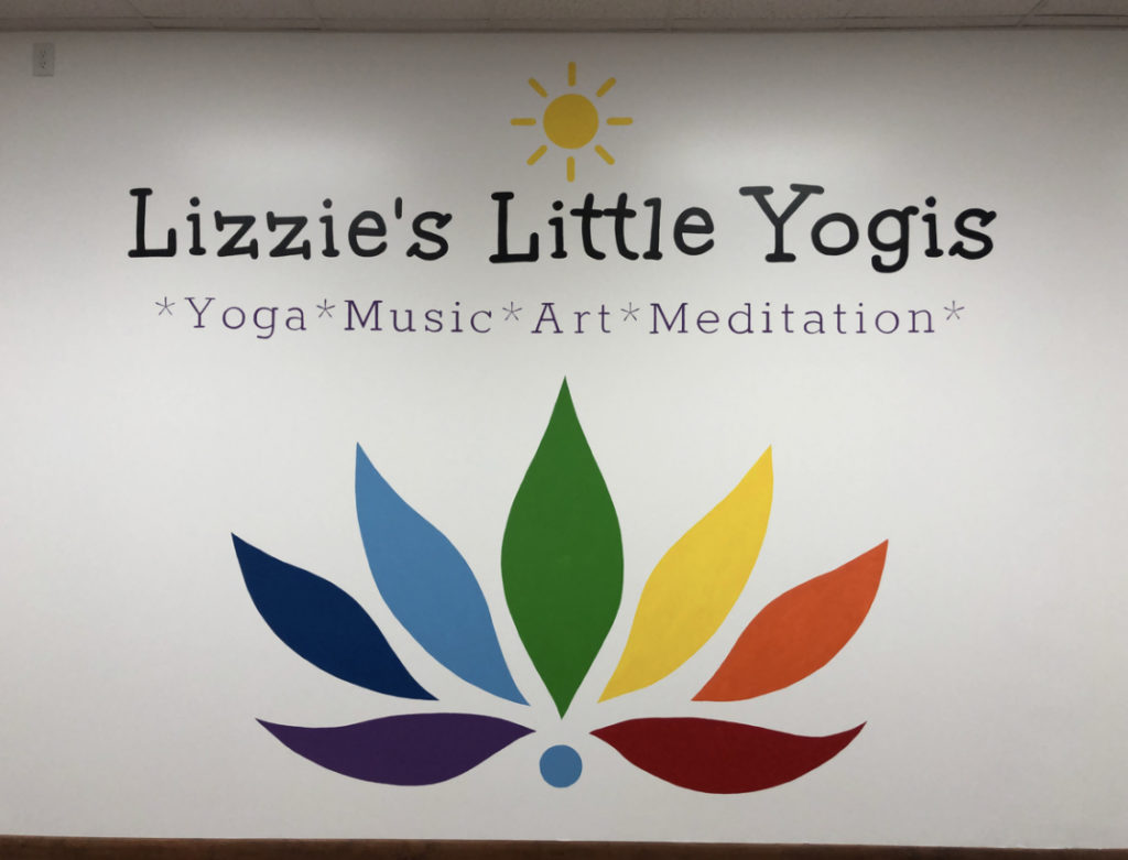 Lizzie's Little Yogis Wall Mural Painting - Biondo Art