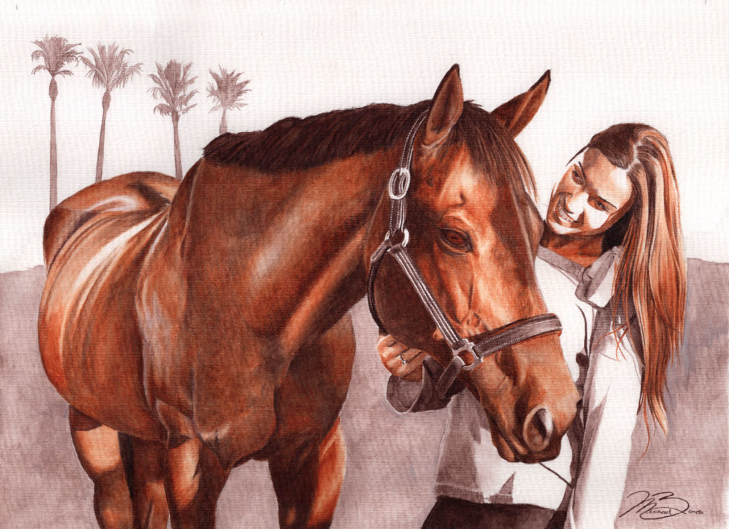 Ollie And Andre - Watercolor-Pencil - Biondo Art