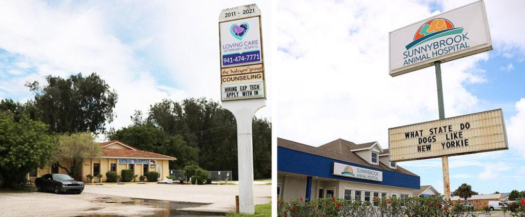 Loving Care Veterinary Hospital and Sunnybrook Animal Hospital Signage - Biondo Art