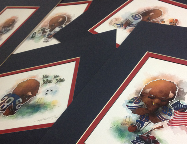 Buffalo Bills matted prints for sale by Biondo Art