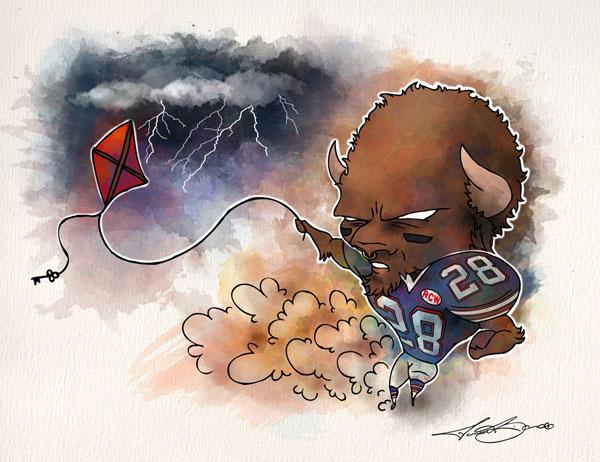 Week 3: Buffalo Bills vs. San Diego Chargers - C. J. Spiller print for sale by Biondo Art