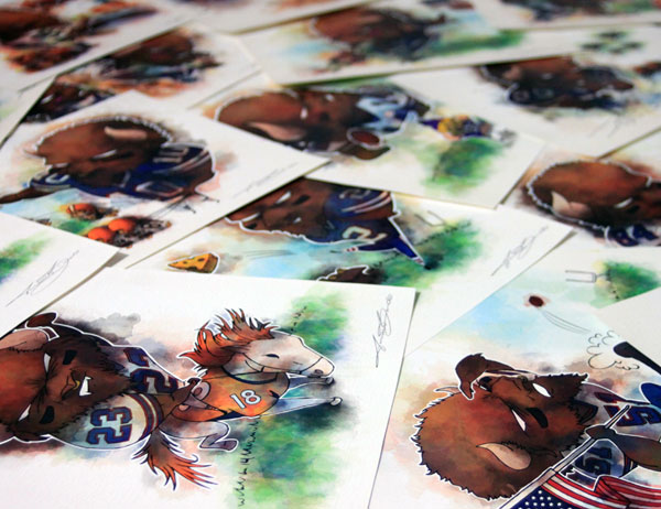 Buffalo Bills prints for sale by Biondo Art