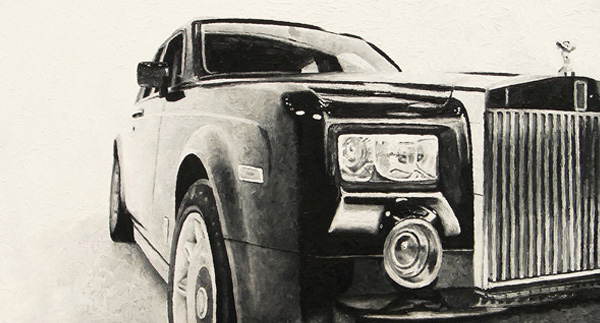 Rolls Royce Phantom print for sale by Biondo Art