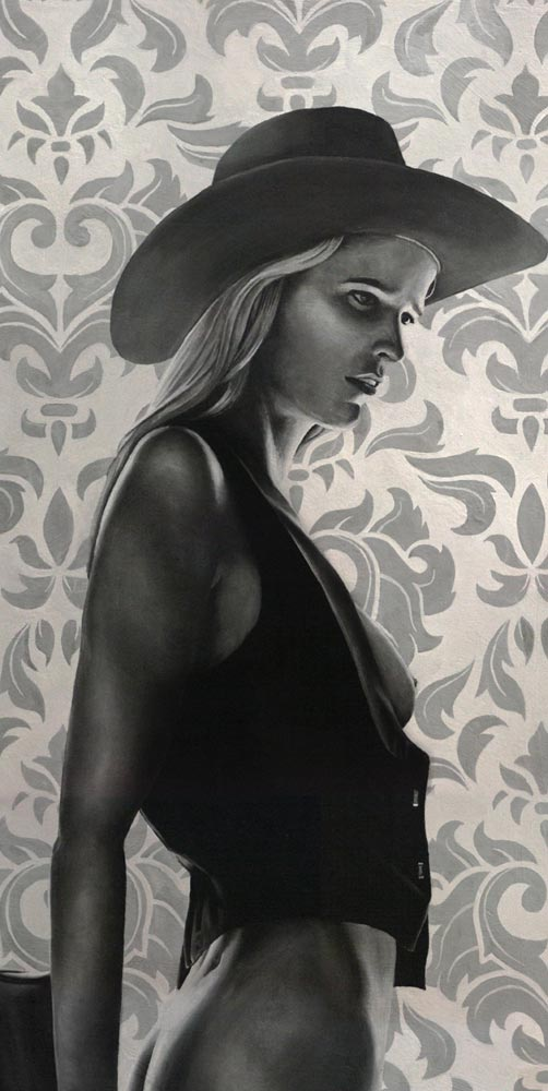 Cowgirl portrait print for sale by Biondo Art