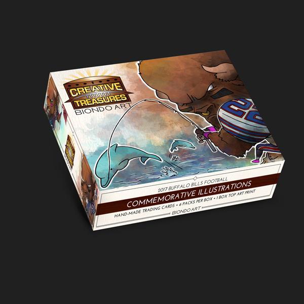 Creative Treasures: Closed Box   Buffalo Bills Art Cards