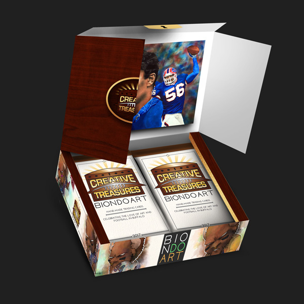 Creative Treasures: Open Box   Buffalo Bills Art Cards
