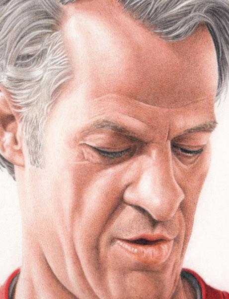 Gordie Howe portrait print for sale by Biondo Art