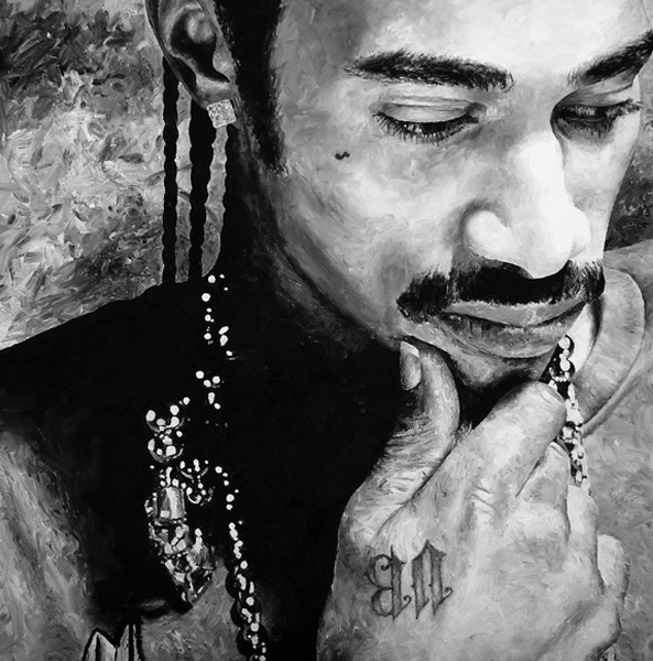 Portrait of Layzie Bone print for sale by Biondo Art