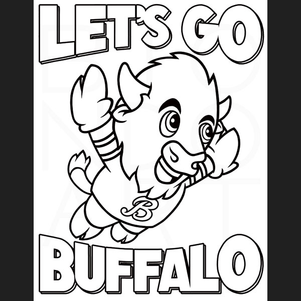 Buffalo On The Field Coloring Book