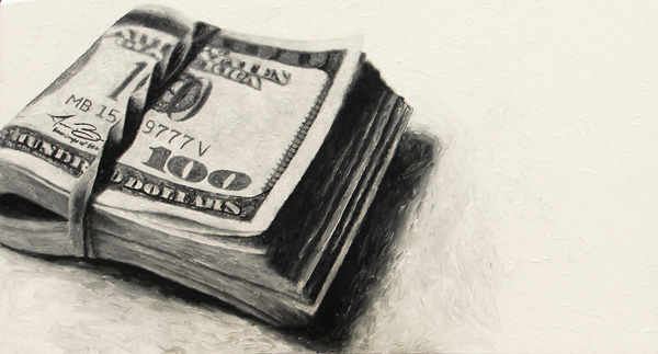 Stack of money print for sale by Biondo Art