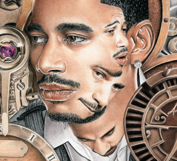 Portrait of Layzie Bone - Perfect Timing print for sale by Biondo Art