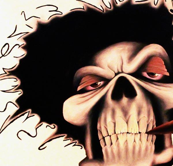 Lyrical Paraphernalia Krayzie Bone skull portrait print for sale by Biondo Art