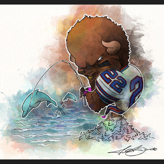 Buffalo Bills vs. Miami Dolphins Biondo Art prints for sale