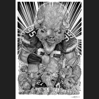 Buffalo Bills Lead The Charge: Biondo Art prints for sale