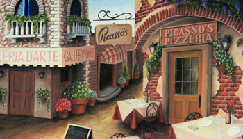 Picasso's Pizzeria: Biondo Art prints for sale