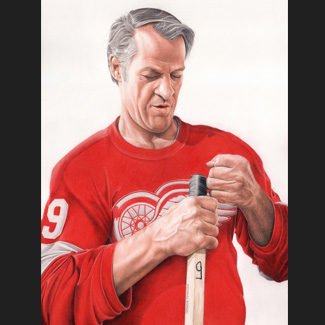 The Legend Gordie Howe: Biondo Art prints for sale