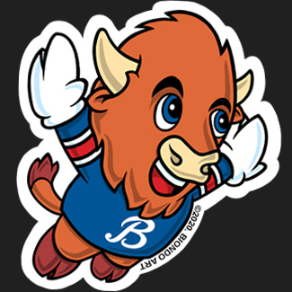 Let's Go Buffalo Stickers / Magnets for sale