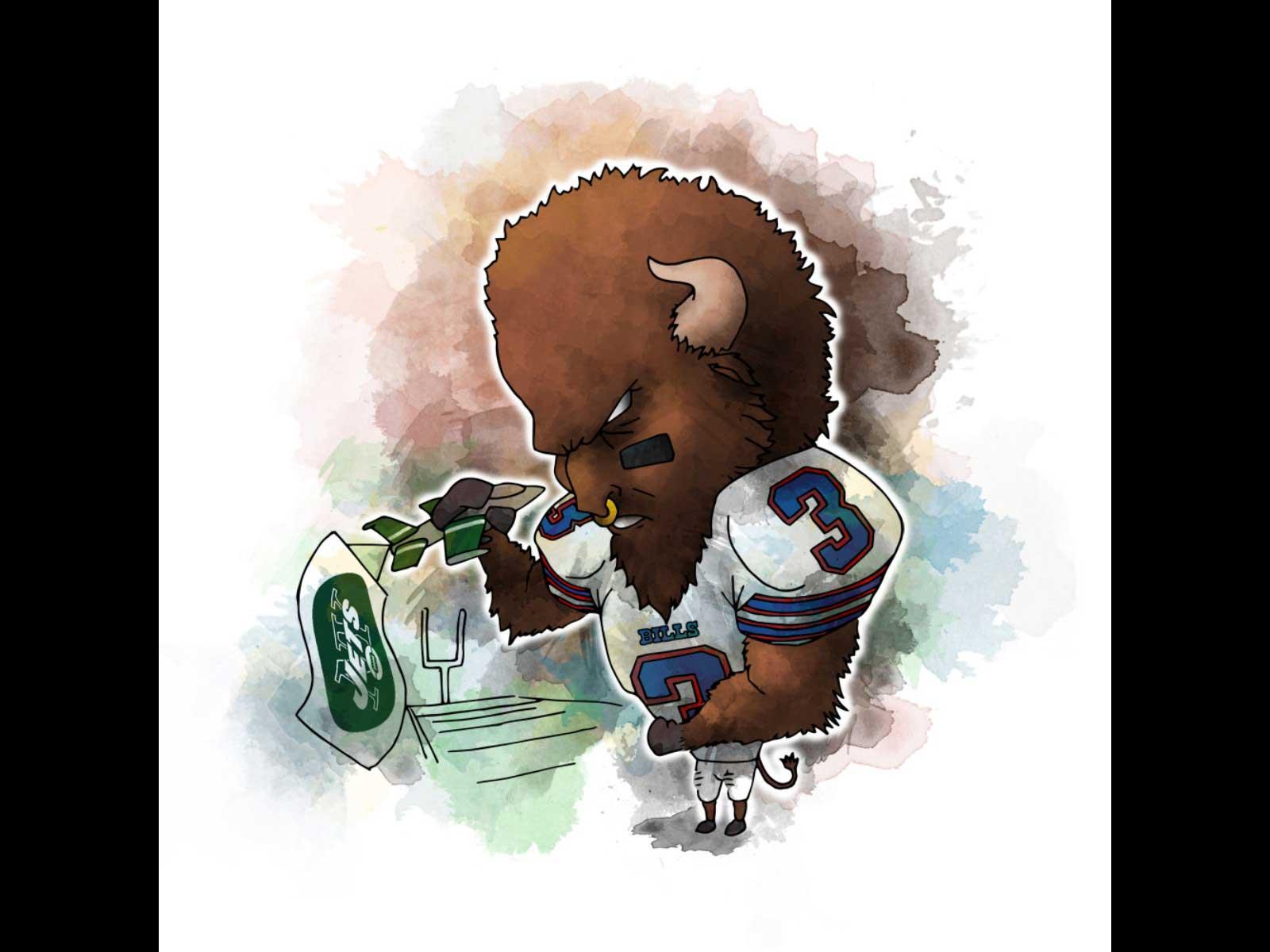 Michael Biondo Creates Digital Illustrations For The Buffalo