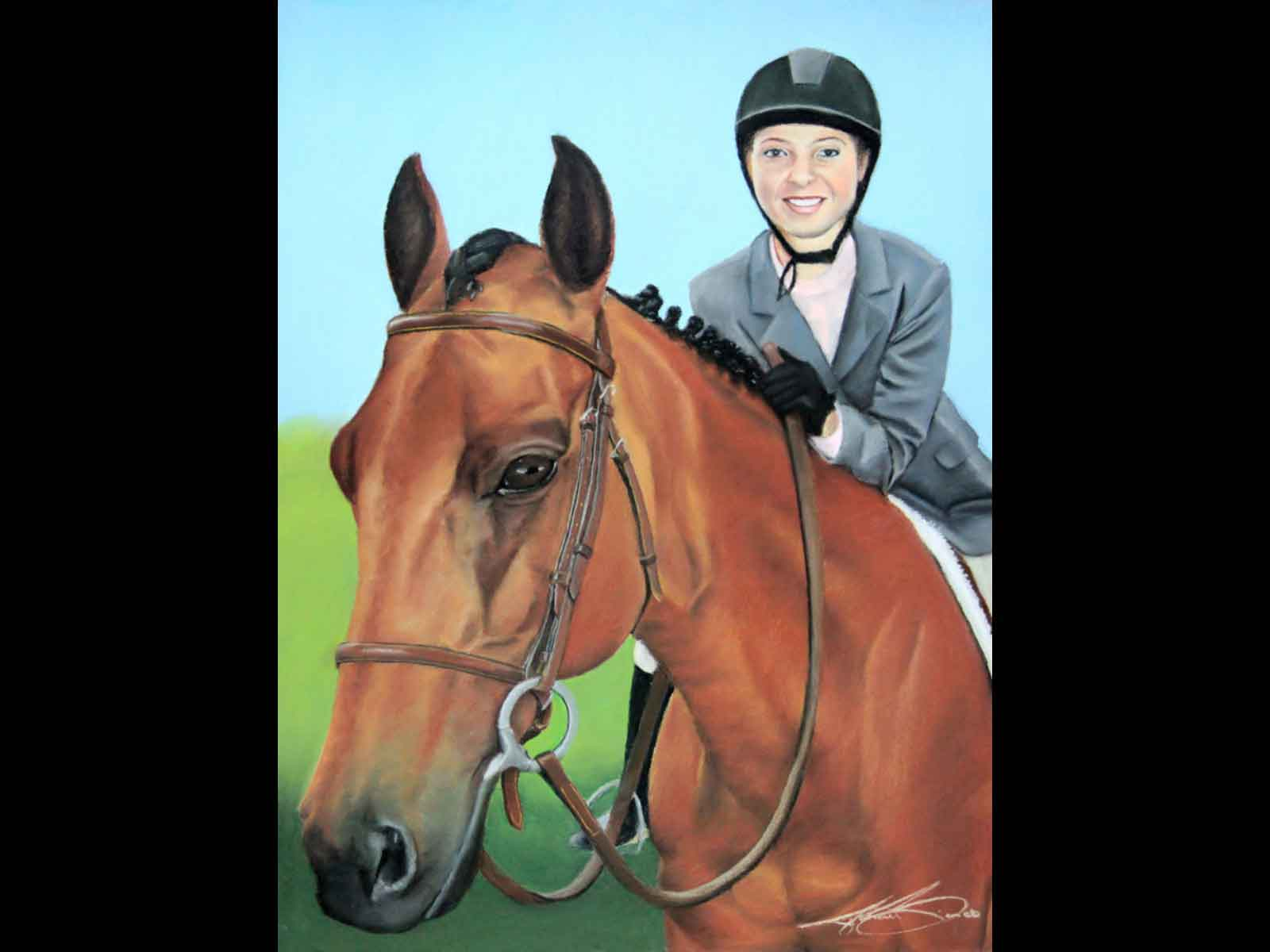Emily Voss & Horse (After)