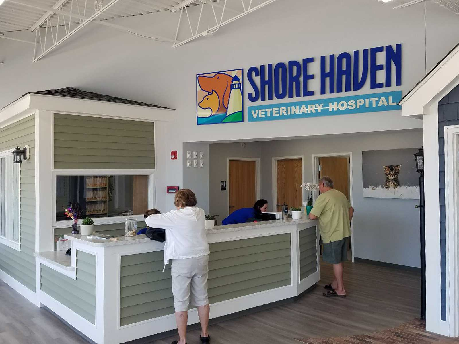 Shore Haven Vet Sign