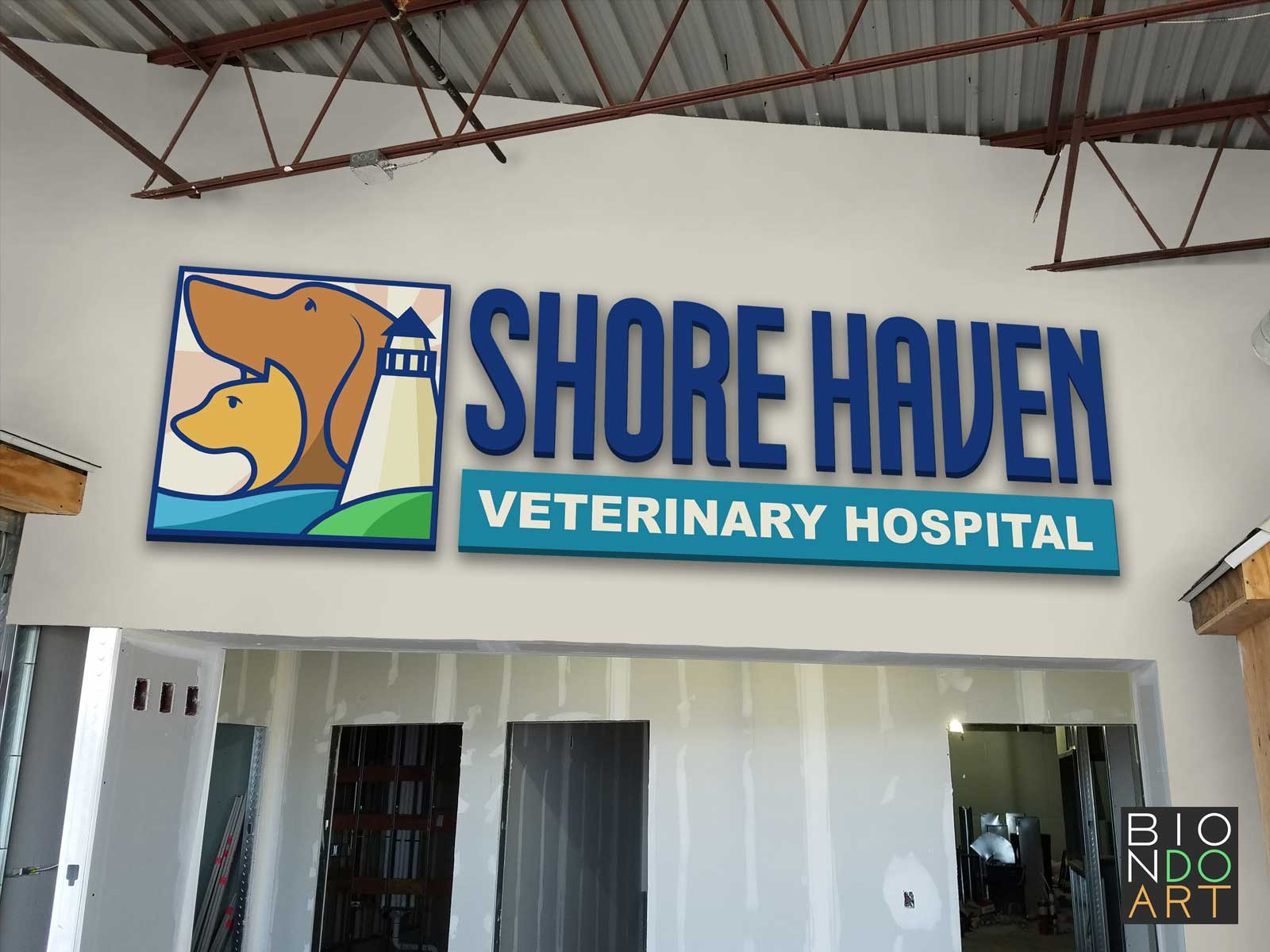Shore Haven Vet Sign Mock-Up