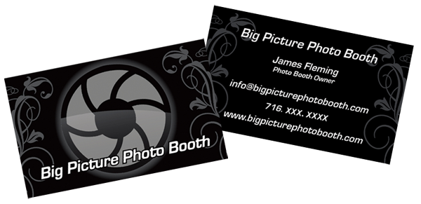 Get web design business card design and logo design like big big picture photo booth website design reheart Image collections