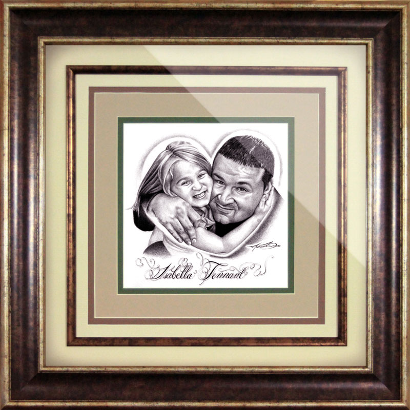 Isabella and Michael Tennant Drawing Framed by Michael Biondo