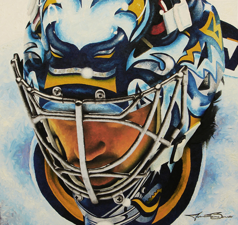 Miller Time Oil Painting by Michael Biondo - Portrait of Ryan Miller
