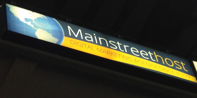 Mainstreethost Balcony Sign | First Niagara Center | Buffalo Sabres