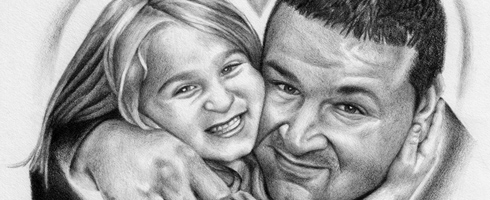 Isabela and Michael Tennant Portrait Drawing by Michael Biondo