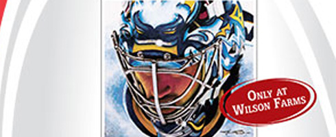 Miller Time painting print of Ryan Miller sold through Wilson Farms
