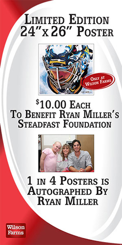 Ryan Miller portrait print sold through Wilson Farms
